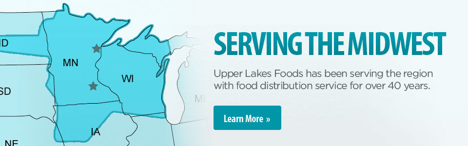 Upper Lakes Foods has been serving the region with food distribution service for over 40 years.