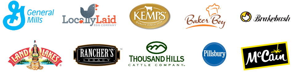 Locally Laid, Rancher's legacy, Kemps, Baker Boy, Pilsbury, and other brands