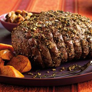 New York Strip Loin Roast With Garlic Herb Crust Upper