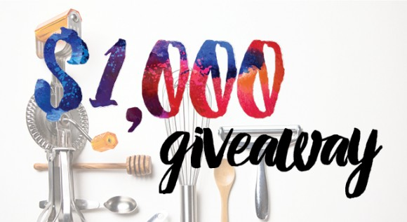 1000 Giveaway email banner