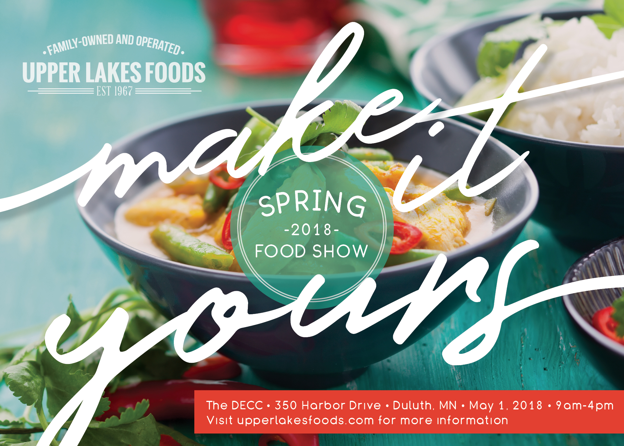 Save the Date for the Spring Food Show! | Upper Lakes Foods
