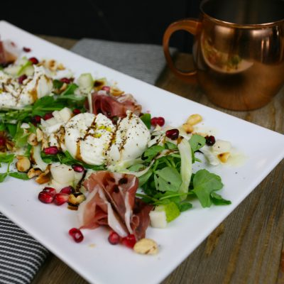Prosciutto & Pear with Burrata Salad
