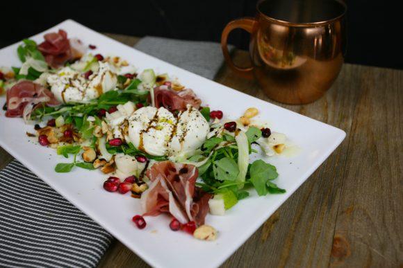 Prosciutto & Pear with Burrata Salad